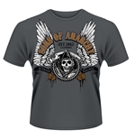 T-shirt Sons of Anarchy Mietitore alato grigio