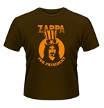 T-shirt Frank Zappa - Zappa For President marrone