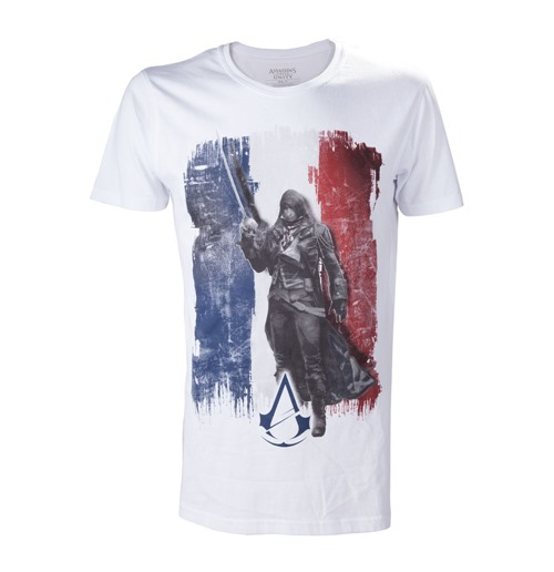 T-shirt ASSASSIN'S CREED Unity French Tricolour Flag - L
