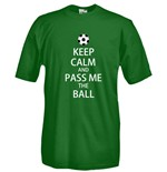 T-shirt  Keep Calm and Pass me the ball