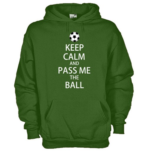 Felpa Keep calm and Pass me the ball