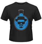 t-shirt Breaking Bad con sfondo beuta rotonda