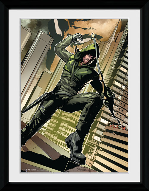 Poster Arrow Cover Green Incorniciato