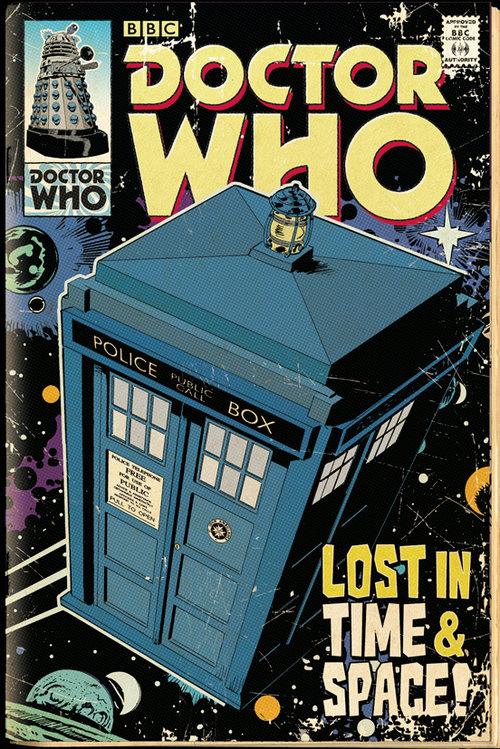 Poster Doctor Who Tardis Comic