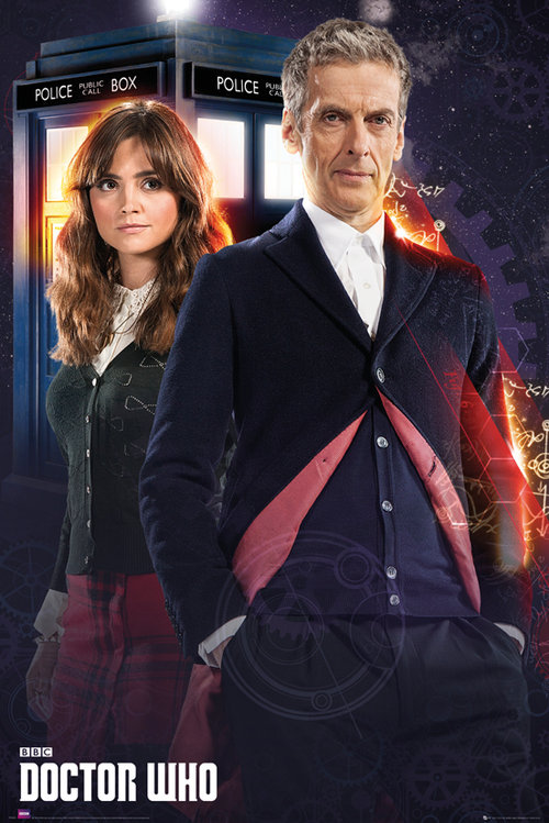 Poster Doctor Who Doctor and Clara