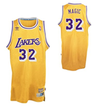 Maglia adidas Magic Johnson Los Angeles Lakers Magic Soul Swingman Nickname