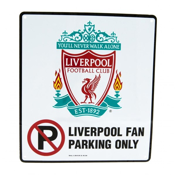 Targhetta Liverpool FC No Parking