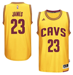 Canotta Cleveland Cavaliers LeBron James adidas New Swingman Alternate Giallo