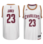 Canotta Cleveland Cavaliers LeBron James adidas New Swingman Home Bianco
