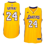 Canotta Los Angeles Lakers Kobe Bryant adidas New Swingman Home Giallo