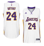 Canotta Los Angeles Lakers Kobe Bryant adidas New Swingman Alternate Bianco