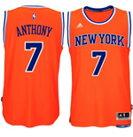 Canotta New York Knicks Carmelo Anthony adidas New Swingman Alternate Arancio