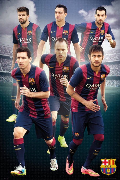 Poster Barcellona Players 14/15