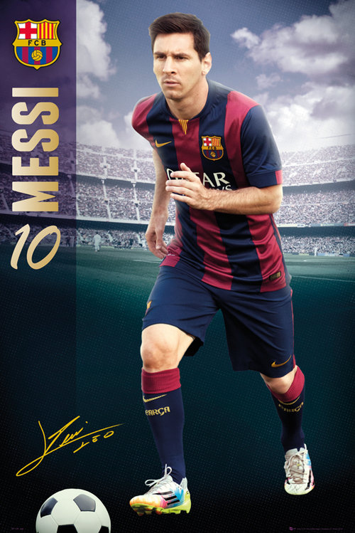 Poster Barcellona Messi 14/15