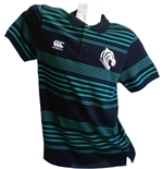 Leicester Tigers Polo Leggera Stripes NERO-VERDE