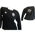 Leicester Tigers Polo Manica Lunga Classic Nera