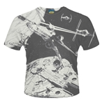 "T-shirt Star Wars ""Space Battle"""