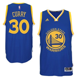 Canotta Golden State Warriors Stephen Curry adidas New Swingman Road Blu
