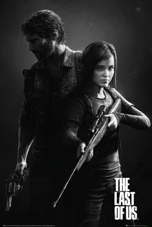 Poster The Last Of Us Black and White Portrait