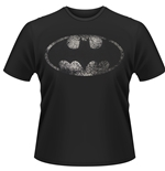 T-shirt originali Dc Batman con logo anticato
