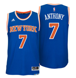 Canotta New York Knicks Carmelo Anthony adidas New Swingman Road Blu