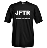 T-shirt JFTR Just For The Record