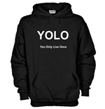 Felpa YOLO You Only Live Once