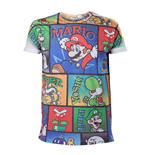T-shirt NINTENDO Super Mario Bros. All-Over Mario and Co - Large