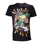 T-shirt NINTENDO Legend of Zelda Wind Waker Link Attacks - S