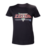 T-shirt NINTENDO Legend of Zelda Classic Retro Pixelated Logo - M