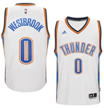 Canotta Oklahoma City Thunder Russell Westbrook adidas New Swingman Home Bianco