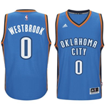 Canotta Oklahoma City Thunder Russell Westbrook adidas New Swingman Road Azzurro