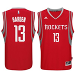 Canotta Houston Rockets James Harden adidas New Swingman Road Rosso