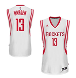 Canotta Houston Rockets James Harden adidas New Swingman Home Bianco