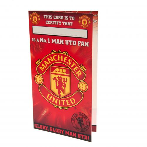 Biglietto d'auguri Manchester United No 1 Fan