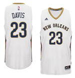 Canotta New Orleans Pelicans Anthony Davis adidas New Swingman Home Bianco