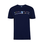 T-shirt Mondiali di Rugby 2015 RWC 20 Nations Map