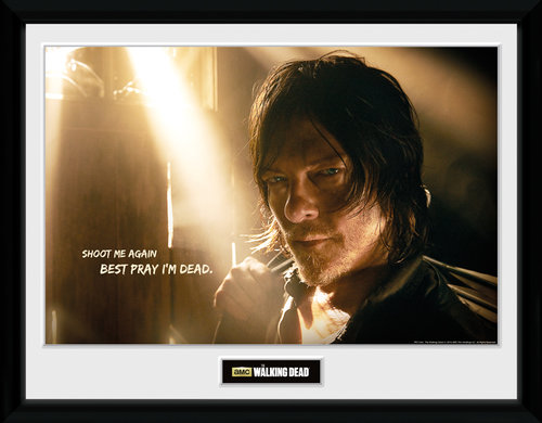 Poster The Walking Dead Daryl Light Incorniciato