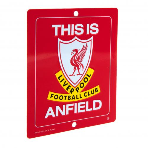 Targhetta Liverpool FC This Is Anfield