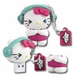"Chiavetta USB Hello Kitty ""DJ"" 8GB"