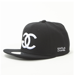 "Snapback Entics - grafica ""GANJA CHANEL"" - colore: Nero"