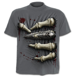 "T-shirt disegnata a carboncino ""Death Grip"""