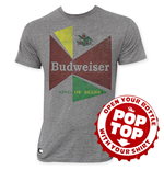 T-shirt Budweiser da uomo 60's Pop Top
