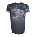 T-shirt PlayStation City Landscape - taglia S