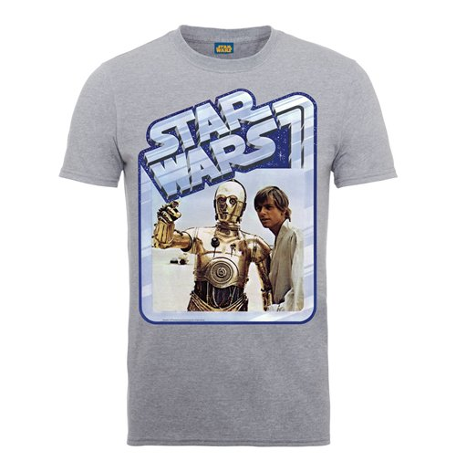 T-shirt Star Wars C3Luke Poster
