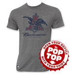 T-shirt Budweiser Pop Top Vintage Eagle Logo