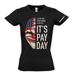 T-shirt PAYDAY 2 Dallas Mask - da donna - L