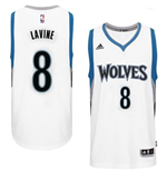 Canotta Minnesota Timberwolves Zach Wiggins adidas New Swingman Home Bianco