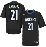 Canotta Kevin Garnett Minnesota Timberwolves Lights Out Sleeved Swingman