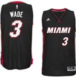 Canotta Miami Heat Dwayne Wade adidas New Swingman Road Nero